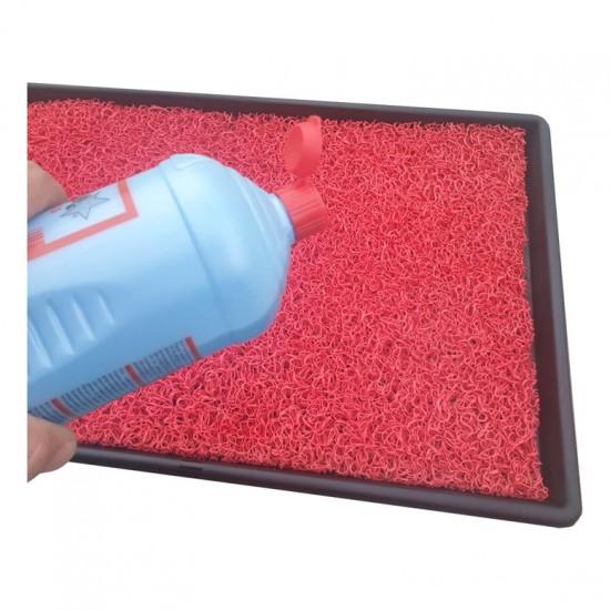 Covoras igienizat pentru incaltaminte - Rosu