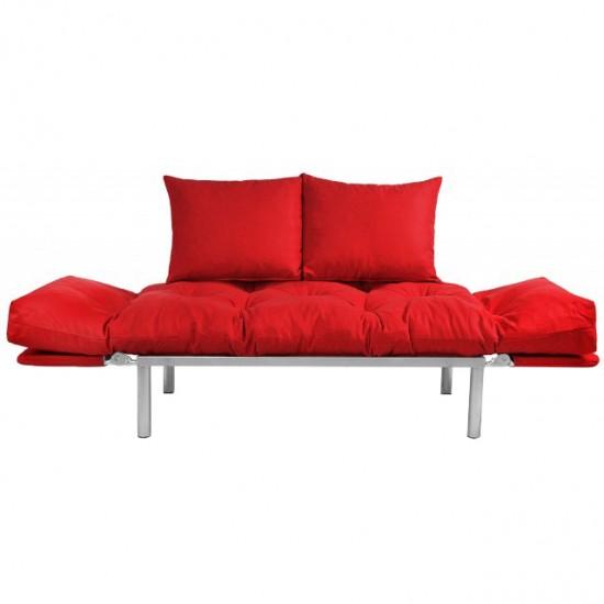 Canapea extensibila 2 locuri Model Combi Rosu