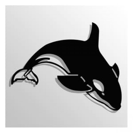 Decor de Perete din METAL, Delfin, 50cm x 70cm